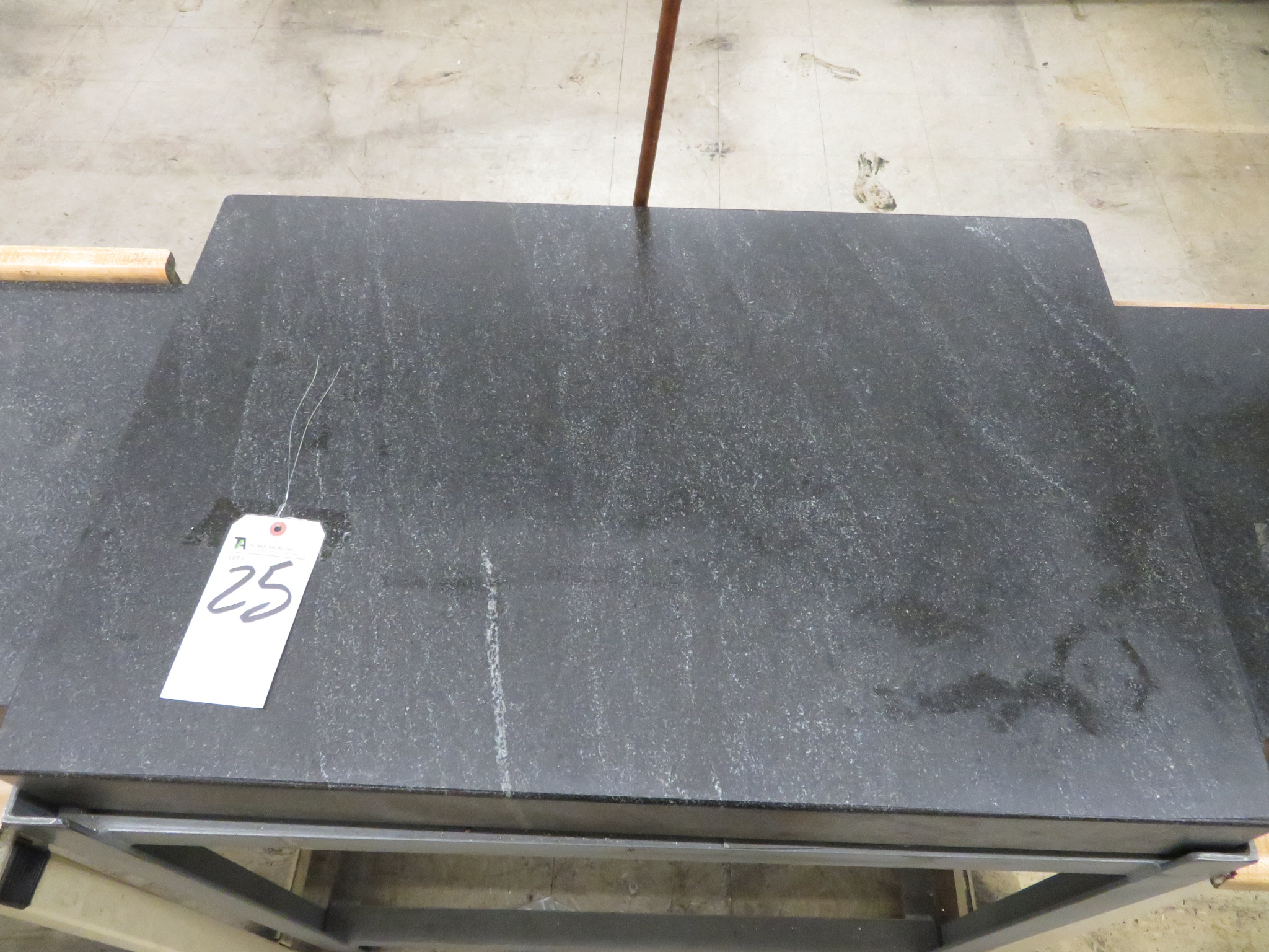 """Precision 24"""" x 36"""" x 4"""" Thick Granite Surface Plate w/ Steel Stand"""