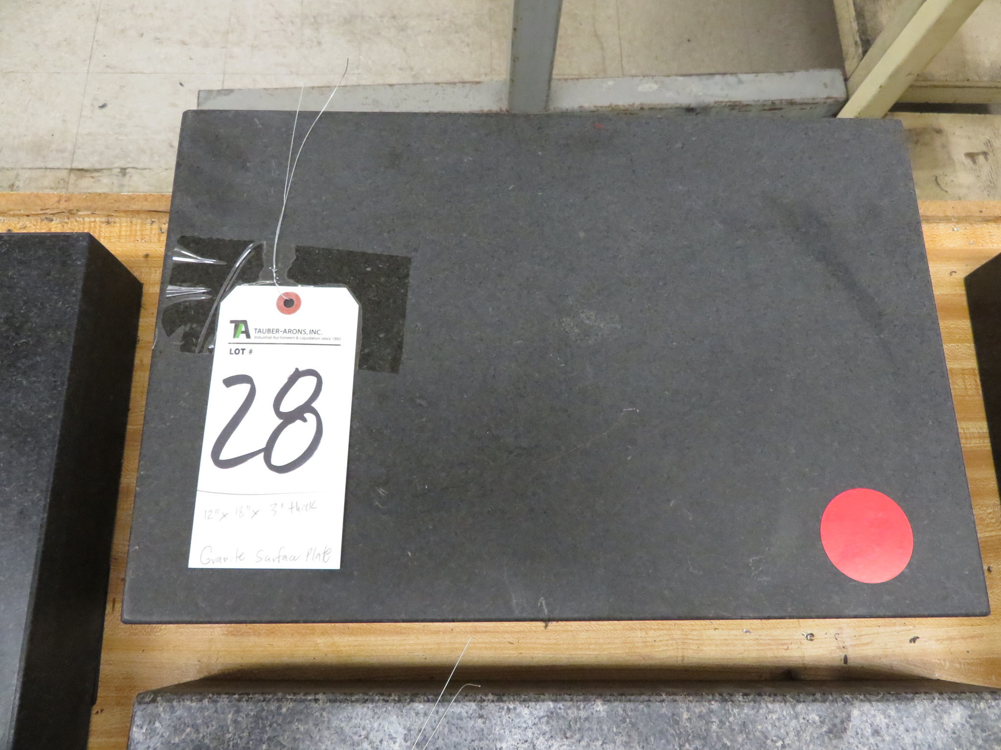 """12"""" x 18"""" x 3"""" Thick Granite Surface Plate"""