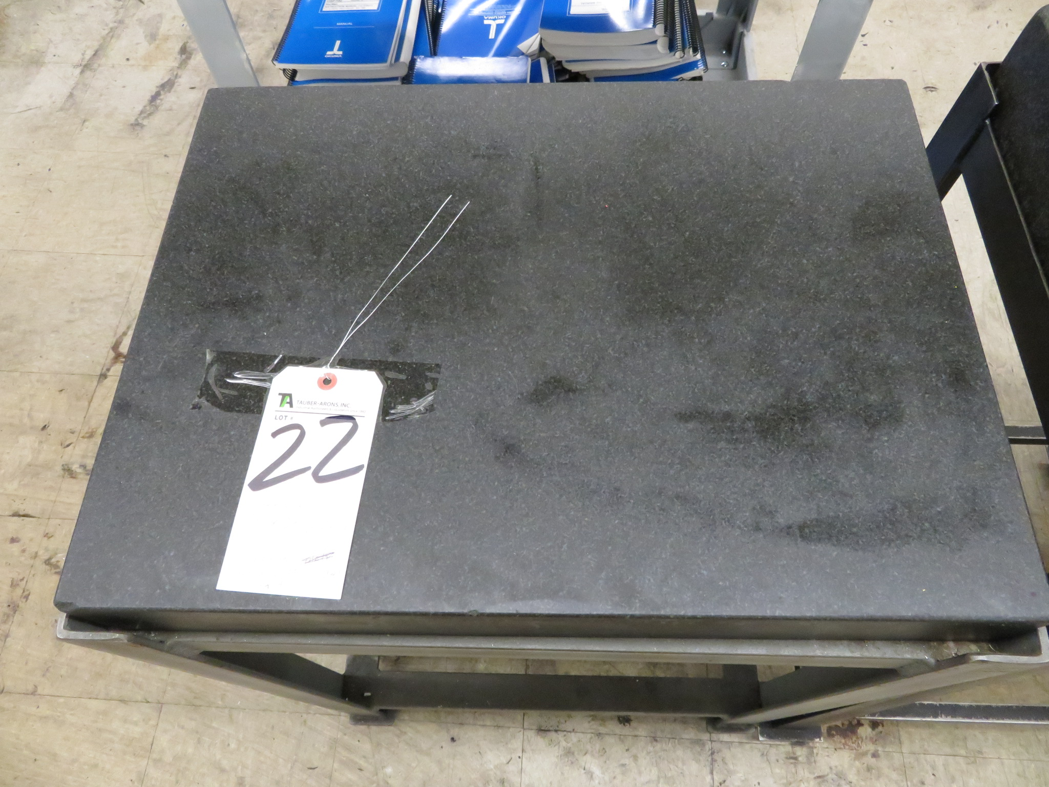 """Precision 18"""" x 24"""" x 3"""" Thick Granite Surface Plate w/ Steel Stand"""