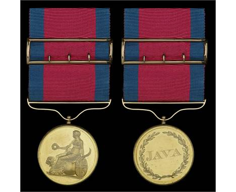 The Field Officer's Gold Medal for Java awarded to Lieutenant-Colonel William Raban, commanding 6th Battalion Bengal Voluntee
