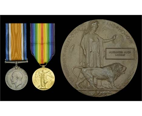 Pair: Private A. H. Lindsay, King's (Liverpool Regiment), who was killed in action on the Western Front on 5 January 1918  Br