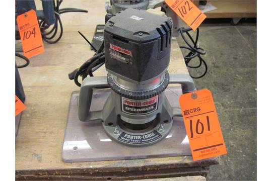 Porter Cable Speedmatic router, M/N 75192, S/N 029993, with Production