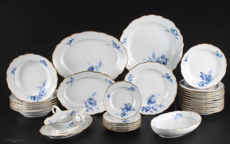 Meissen Speiseservice 30-teilig Blaue Blume, 1.Wahl, Porzellan Restservice, Schwertermarke 1.Wahl,