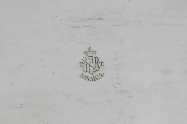 Jugendstil Porzellan Prunkservice mit 1000/1000 Silber Overlay von Tirschenreuth, 5-teiliges - Image 2 of 3