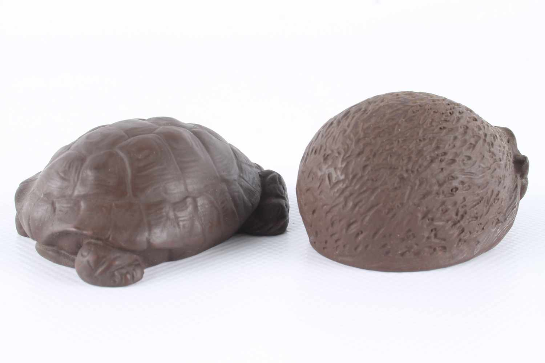 Meissen Igel und Schildkröte von Erich Oehme, Böttger-SteinzeugTierskulpturen, Meissen - Image 2 of 3