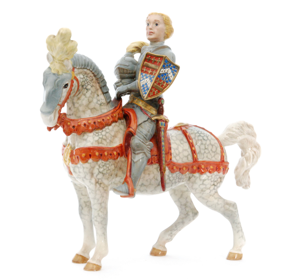 Lot 27 - A Beswick model of the Knight in Armour (The Earl of Warwick), model 1145, circle mark, height 29cm,