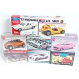 Eight various boxed AMT/ERTL, Lindberg, Revell and other 1/24 and 1/25 scale Classic Car and
