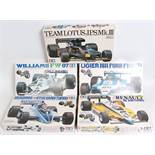 Five various boxed as issued Tamiya 1/20 scale F1 Classic Car kits, all appear as issued to