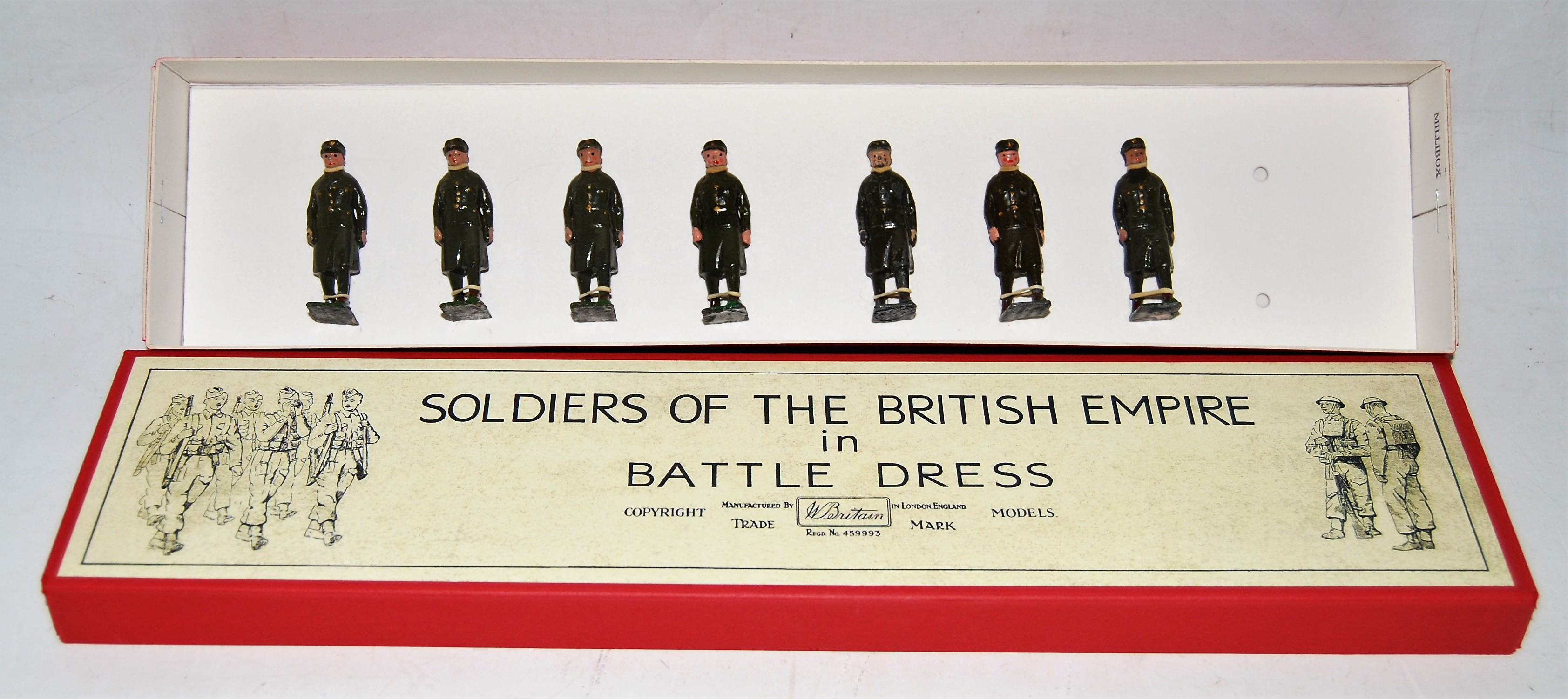 A Britains from set No. 1897 The Royal Army Medical Corps in battle dress with ambulance gift set,