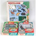 A Britains Zoo Models & Playset boxed group to include No. 7316 various zoo models and animal caging