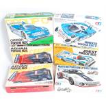 11 various boxed as issued Tamiya and Hasegawa 1/24 scale Classic Car and Highspeed Racing Plastic