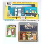 A Britains Models No. 4260 garage forecourt pump stand and lighting set, appears complete, in the