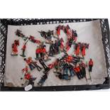 One tray containing approx. 40 various loose Britains and other lead hollow cast military figures to
