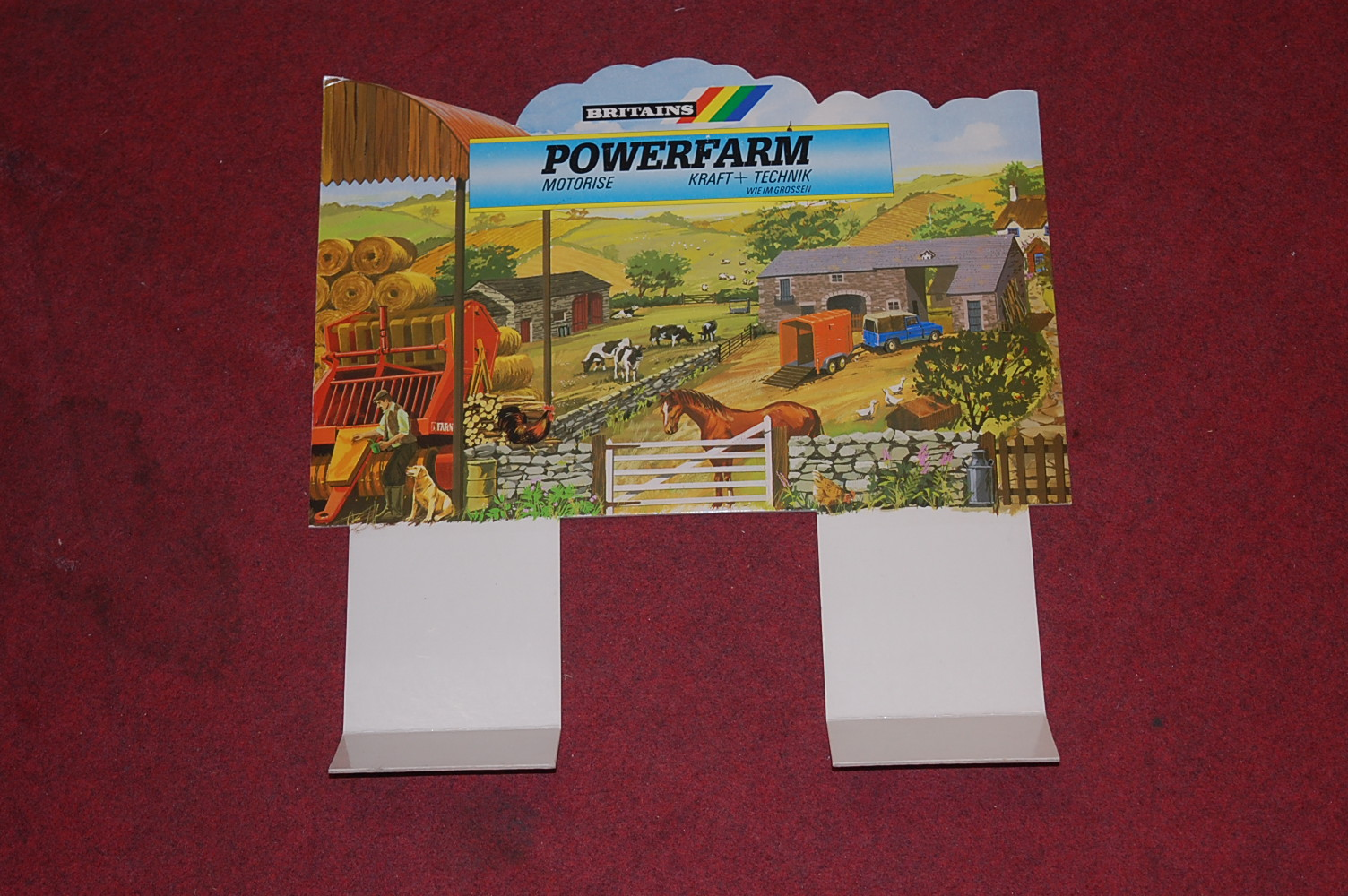 A Britains Power Farm battery operated shop display model of a rolling road, constructed in card - Image 2 of 4