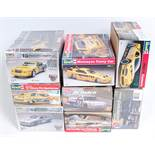 Eight various boxed as issued 1/24 scale and 1/25 scale plastic Classic Car and Highspeed Racing