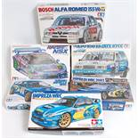 Six various boxed 1/24 scale Highspeed Racing and WRC Plastic Kits all appear as issued to include a