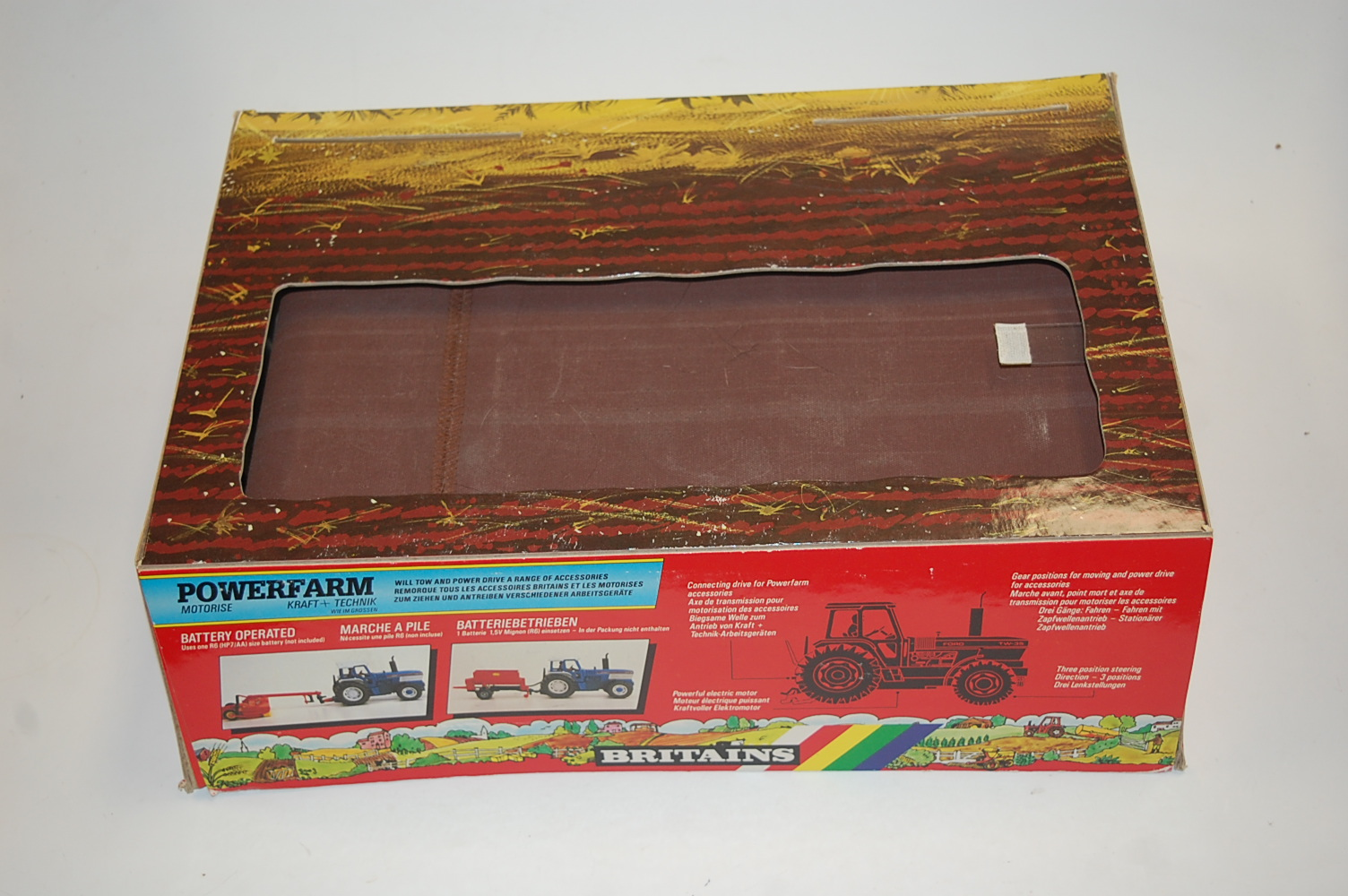 A Britains Power Farm battery operated shop display model of a rolling road, constructed in card - Image 4 of 4