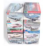 Eight boxed as issued AMT/ERTL, Monogram and Revell 1/25 scale and 1/24 Classic Car and High-speed