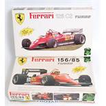 A Protar of Italy 1/24 scale plastic car kit for a Ferrari 126C2 Turbo, together with a Ferrari
