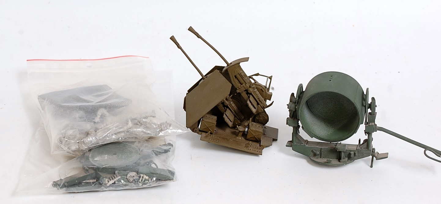 A quantity of various 1/35 scale U Puchala white metal and resin WWII part built and unstarted