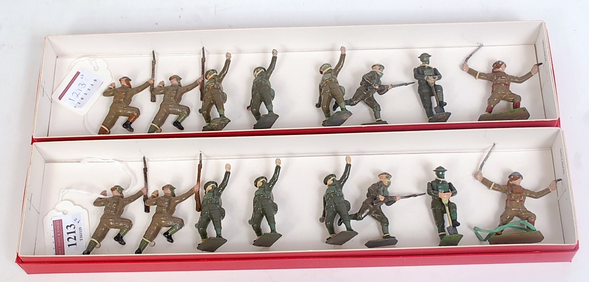 16 various Britains military release soldiers taken from Set Nos.1611-1615, all infantry men in