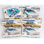 Six various boxed Tamiya 1/24 scale plastic Highspeed Racing Classic Car kits to include a