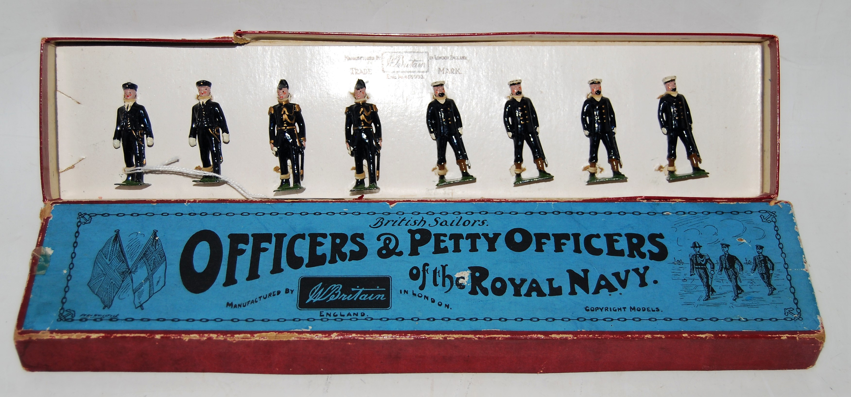 A Britains set No. 207 Officers and Petty Officers of the Royal Navy, 1935 version with white gloves