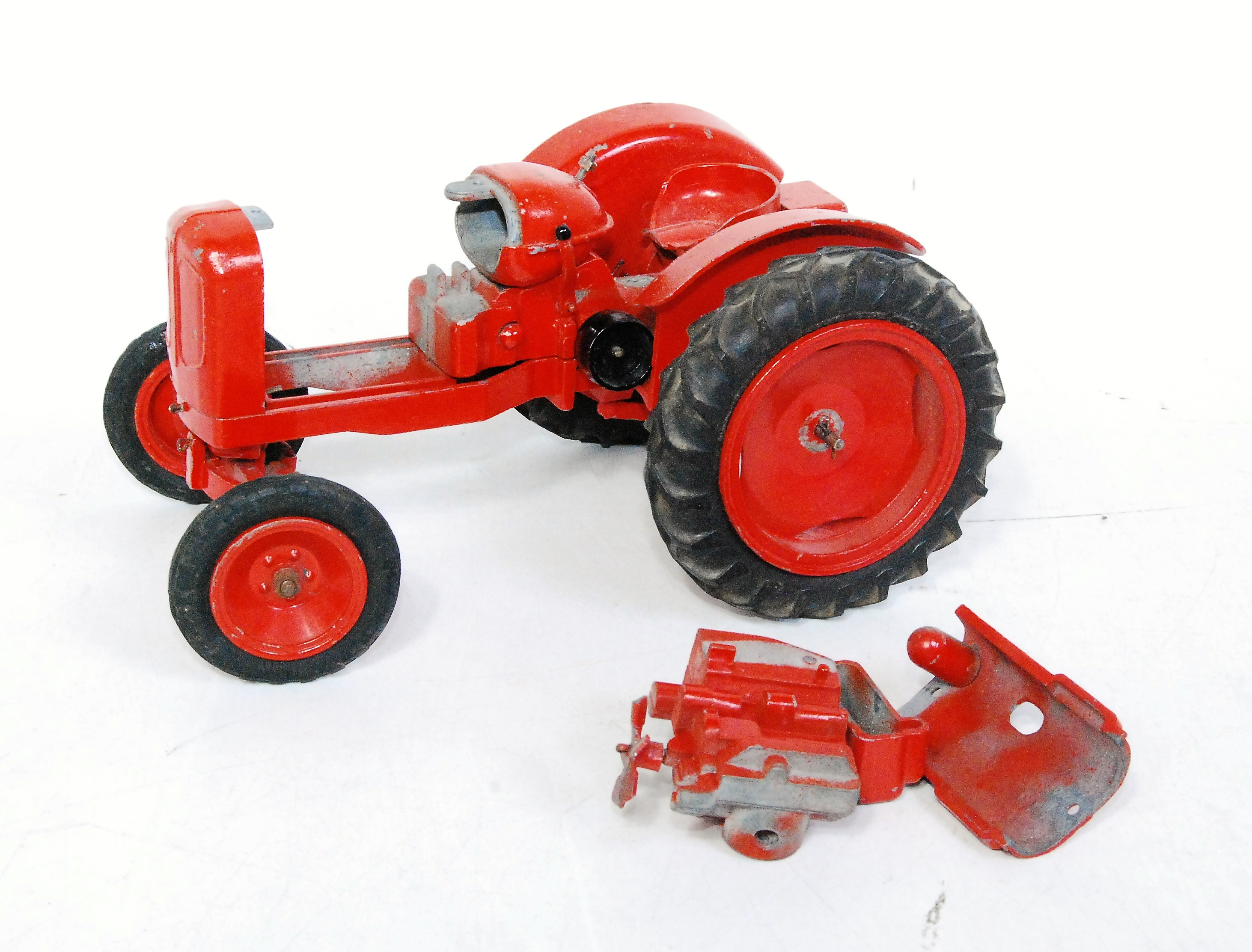 A Denzil Skinner for Morris Motors, model of the Nuffield Universal tractor finished in red with