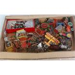 One tray containing a quantity of various mixed lead and hollow cast and diecast farm miniatures, to