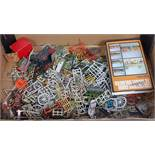 One tray containing a quantity of various lead hollow cast and white metal spares and accessories