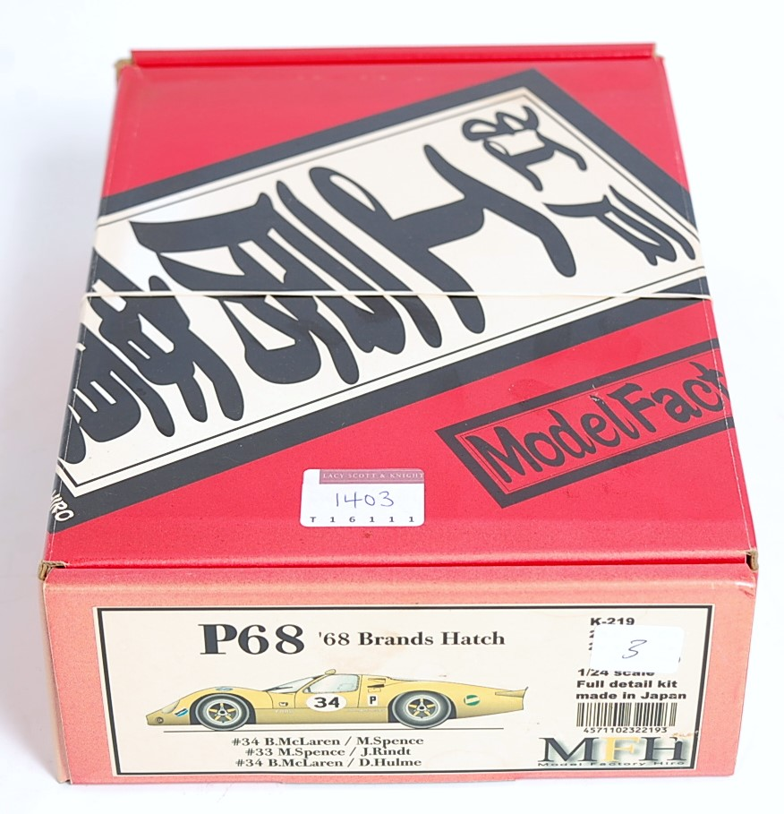 A Model Factory Hiro of Japan 1/24 scale full detail multi media kit of a 1968 Brands Hatch Ford