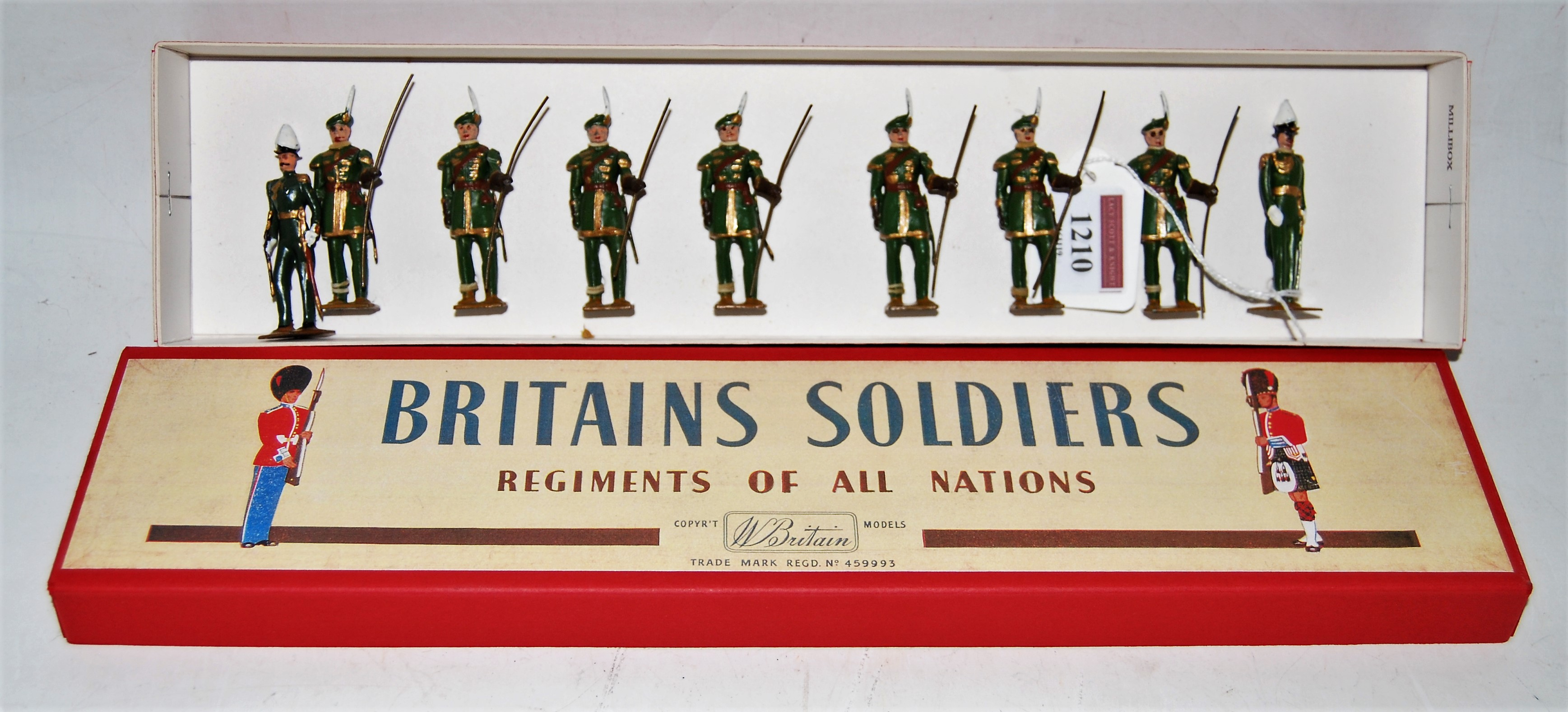 A Britains set No. 2079 Company of Archers comprising of eight various standing archers together