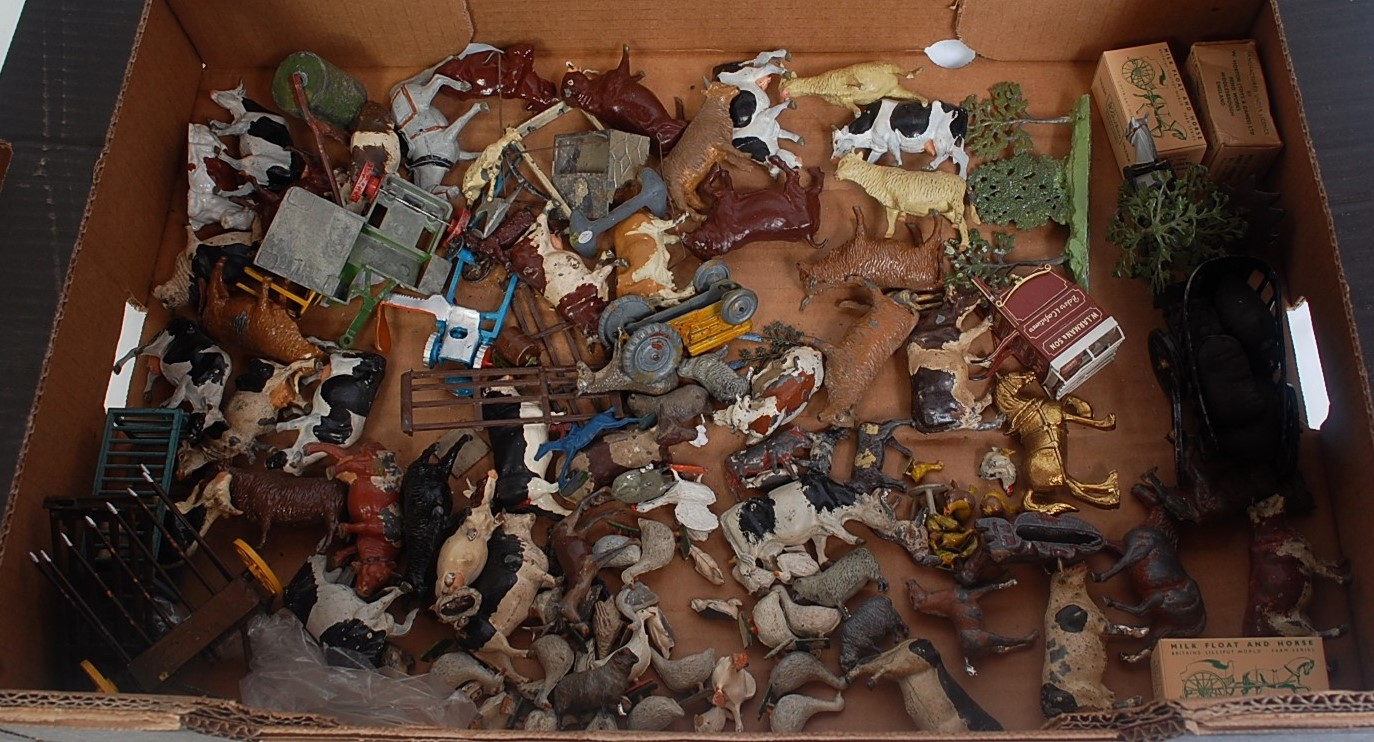 A quantity of various boxed and loose Britains and other lead hollow cast and diecast mixed scale