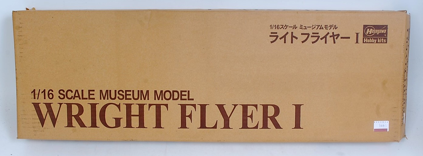 A Hasegawa 1/16 scale museum model of a Wright Flyer 1 The First Powered Flight Aircraft 17th