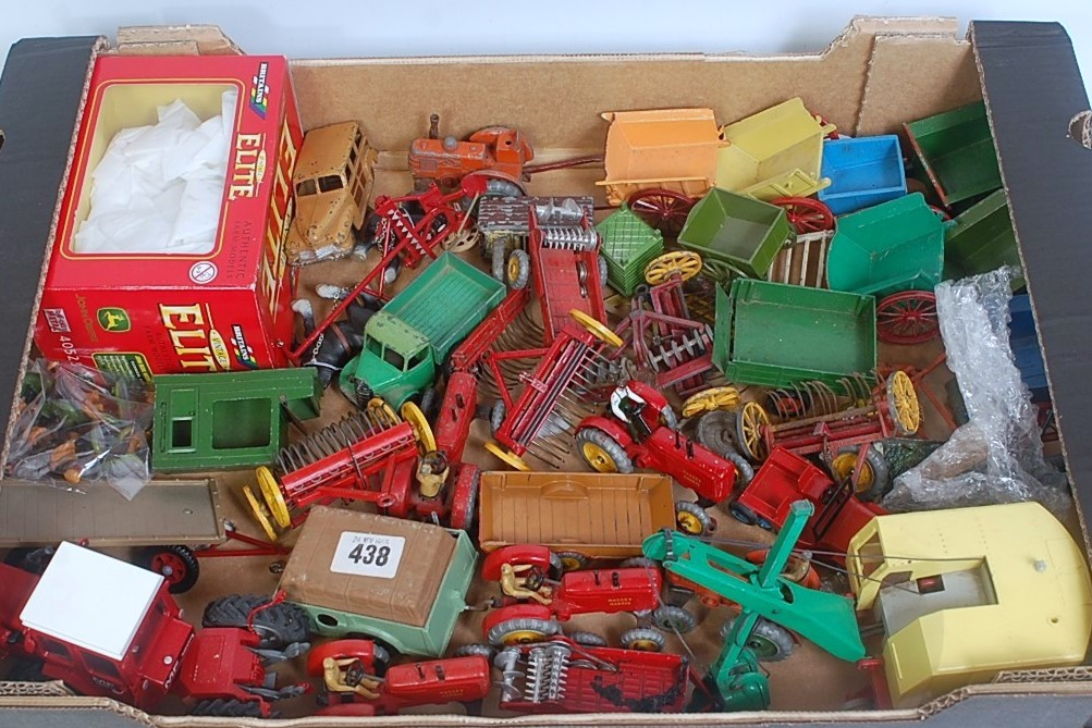 A quantity of various loose Britains Dinky Toys, Vintage Elite and other farming and civilian