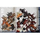 One tray containing a quantity of various lead hollow cast Britains and other farm and zoo animals