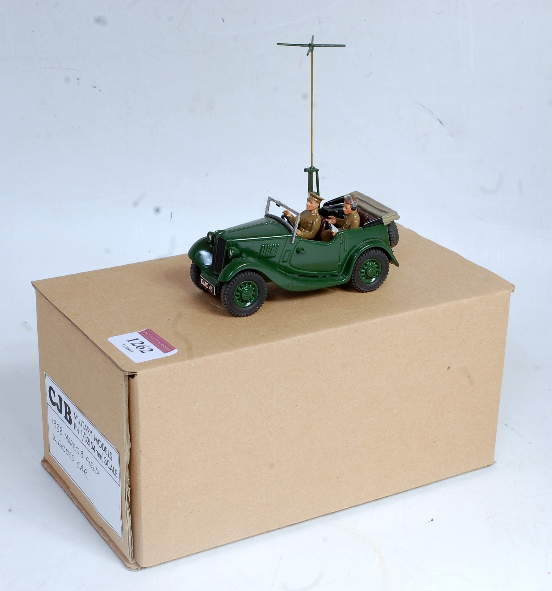 A CJB Military Models 1:32 scale white metal and resin hand crafted model of a 1938 Morris 8 Field