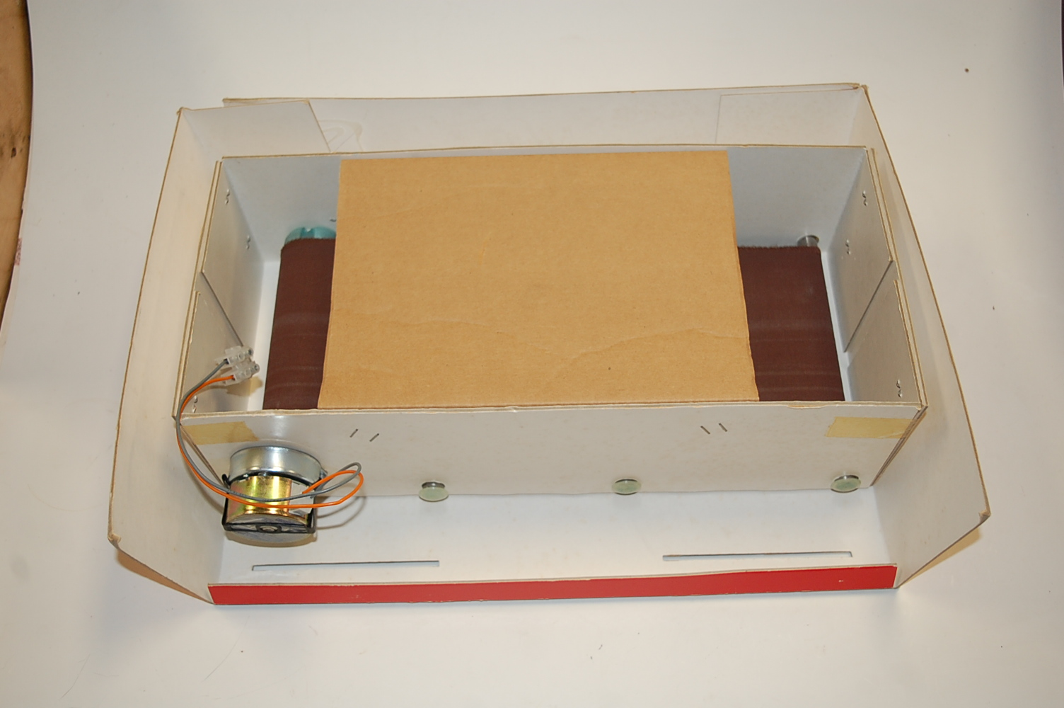 A Britains Power Farm battery operated shop display model of a rolling road, constructed in card - Image 3 of 4