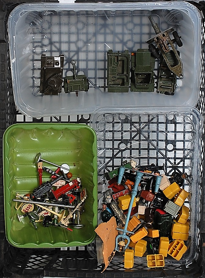 A collection of various John Hilco, Dinky Toy and various lead and hollow cast accessory group to