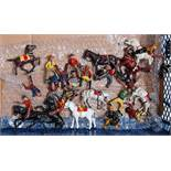 A collection of various John Hilco and Timpo cowboys and Indians figures to include various