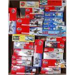 26 various boxed modern release mixed scale aircraft kits to include Airfix, Revell, and others,