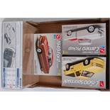 An AMT/ERTL and Revell boxed 1/25 scale 4x4 and Ford Classic car and pickup group to include a