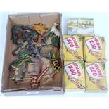 One tray containing a quantity of various lead hollow cast zoo miniatures to include Britains zoo