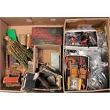 One box containing a quantity of various lead hollow cast and wooden farming miniatures and