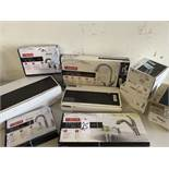 Delta Kitchen and Bath Faucets, Some New and Banded, 12 Items