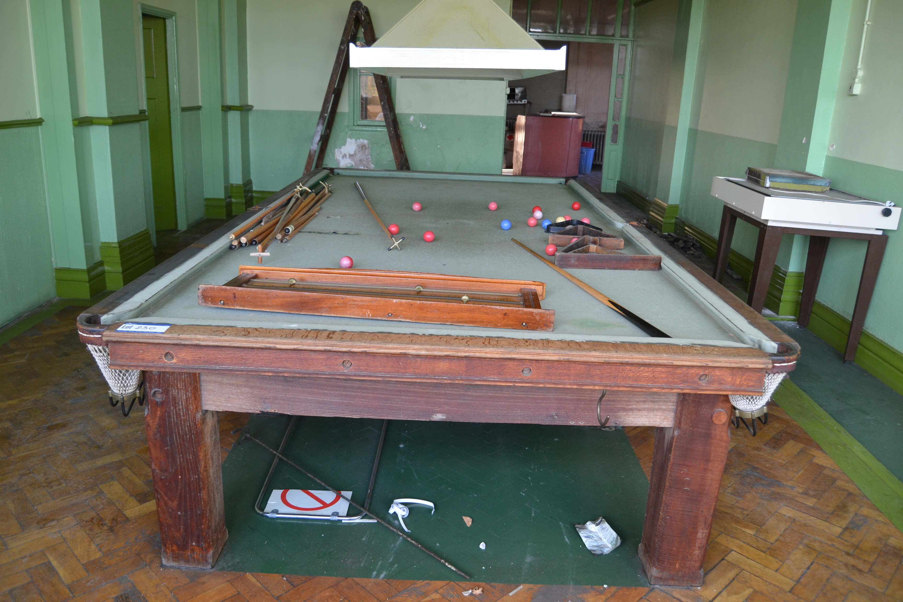 Orme sons full size snooker table in need of repair for 1 4 size snooker table