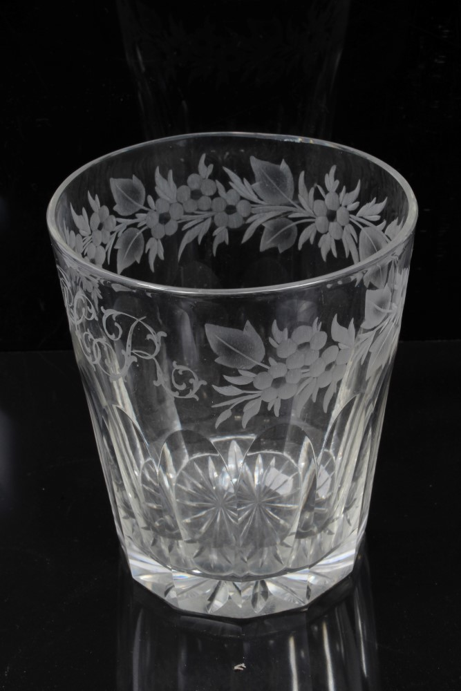 Lot 79 - Group of four 19th century glass rummers and a glass tumbler