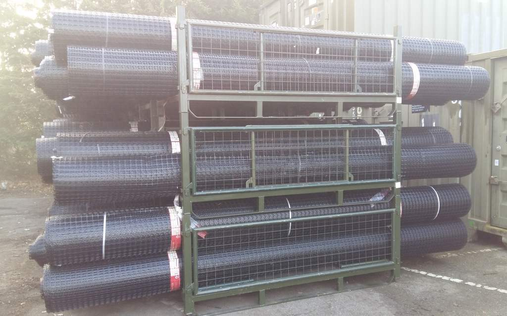Lot 44 - 5 x UNISSUED Tensar SS20 Geogrid Ground Foundation Reinforcement Rolls 4m x 75m