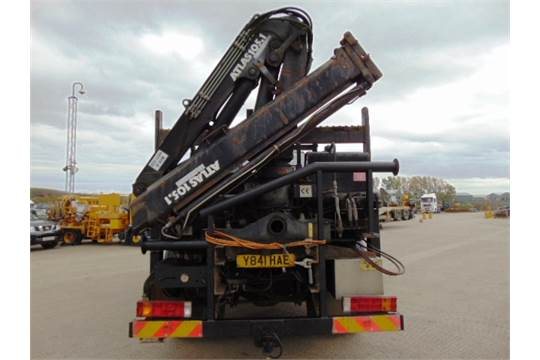 Lot 13 - Mercedes-Benz Atego 1317 4x4 Dropside complete with Atlas 105.1 Crane and H14P SuperWinch
