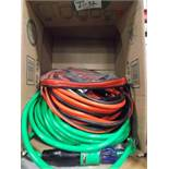 2 NEW 50' HD EXTENSION CORDS & BOOSTER CABLE SET